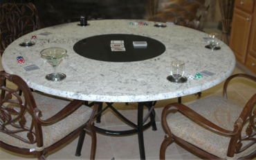 Specialty items such as poker tables